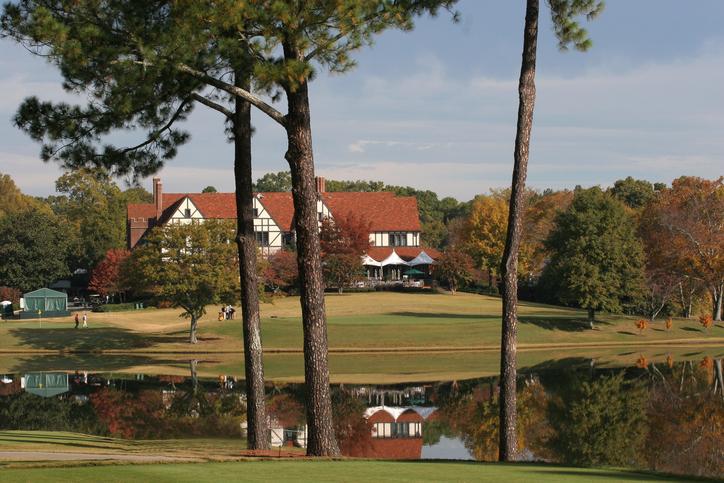 Club house with golf course in Atlanta Georgia