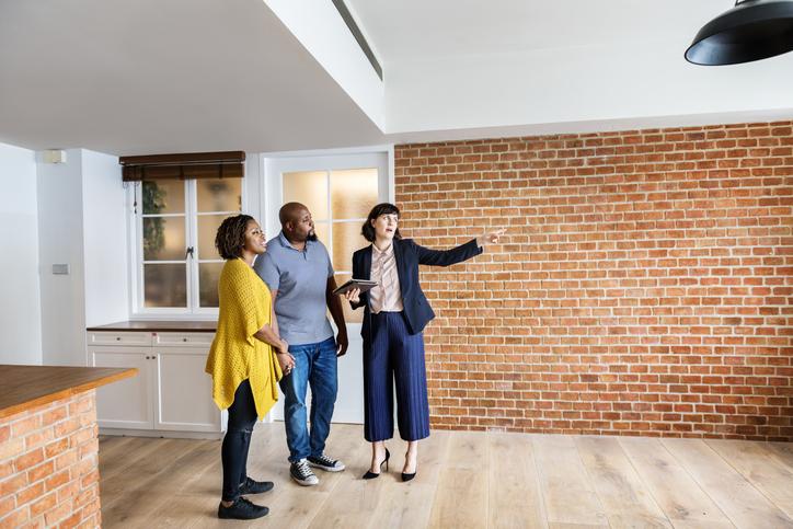 Couple buying new house